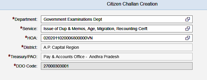 AP 10th Migration Certificate Fee Challahan