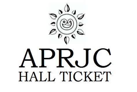 APRJC Hall Ticket 2021
