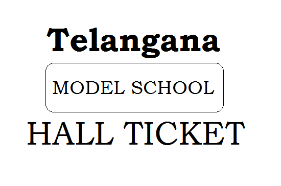 TSMS Hall Ticket 2021