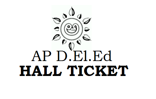 AP D.Ed 1st year hall ticket 2019