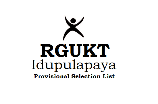 AP RGUKT IIIT Kadapa Selection list 2019