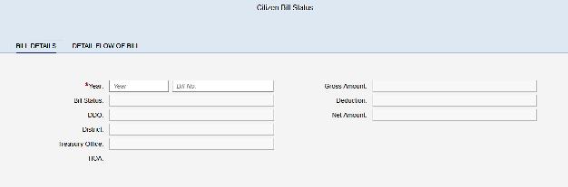 CFMS Bill Details