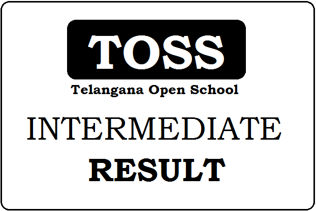 TOSS Inter Result 2019 Telangana Open Intermediate Result
