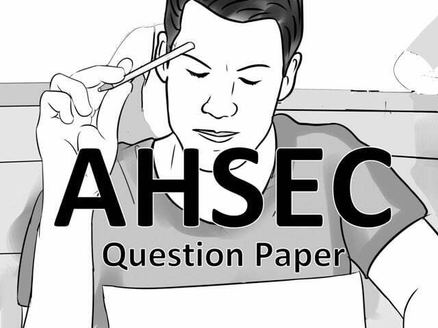 AHSEC Previous Paper 2020
