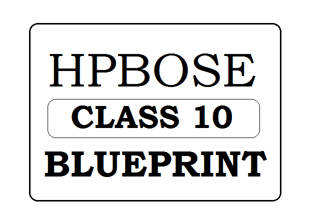 HPBOSE 10th Blueprint 2020