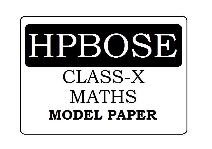 HPBOSE 10th Class Mathematics model paper 2020