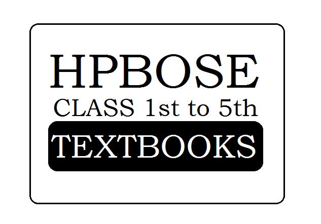 HPBOSE Class 1 2 3 4 5 Books 2020