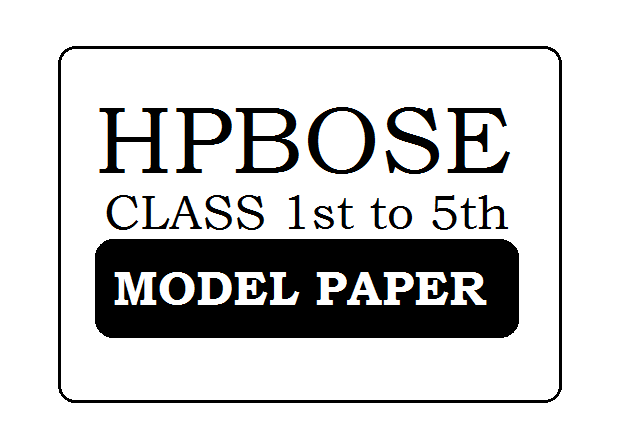 HPBOSE Primary School Model Paper 2020