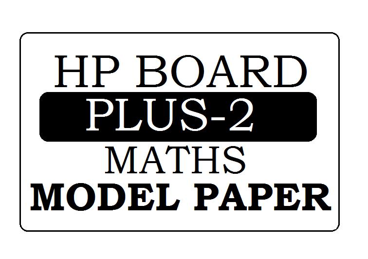 HPBOSE Plus-2 Maths Model Paper 2022
