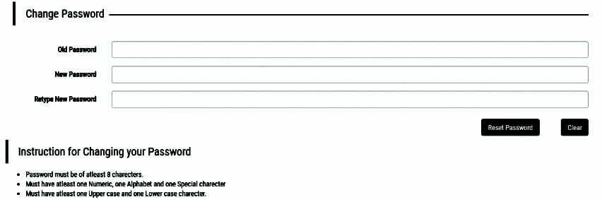 Jnanabhumi Password Change