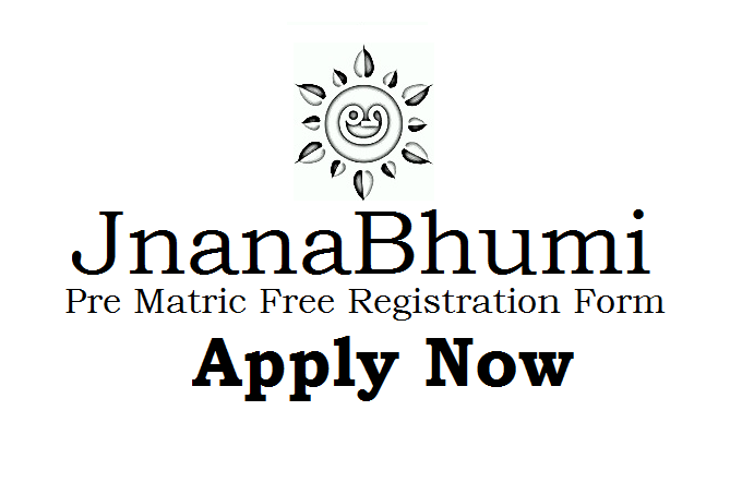 Jnanabhumi Pre-Matric Fresh Application 2019-2020