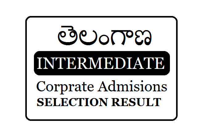 TS ePass Inter Corporate Admission Selection Result 2019-2020