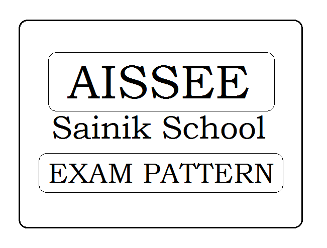 Sainik School 6th Exam Pattern 2020