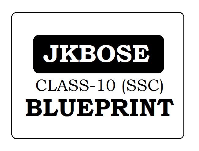 JKBOSE 10th Blueprint 2020