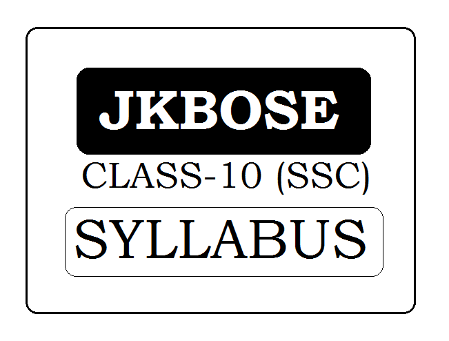 JKBOSE 10th Class Syllabus 2020