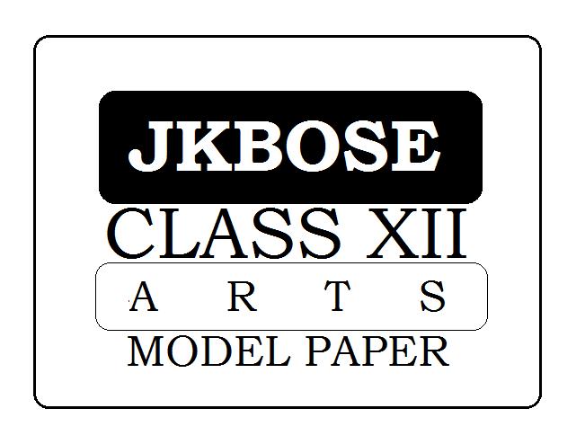 JKBOSE 12th Arts Model Paper 2021