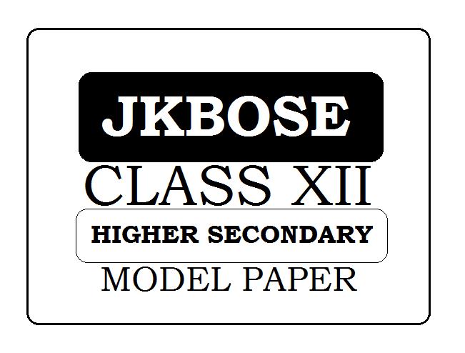 JKBOSE 12th / HSC Model Paper 2021