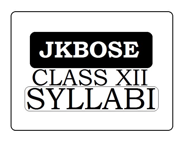 JKBOSE 12th Syllabus 2021