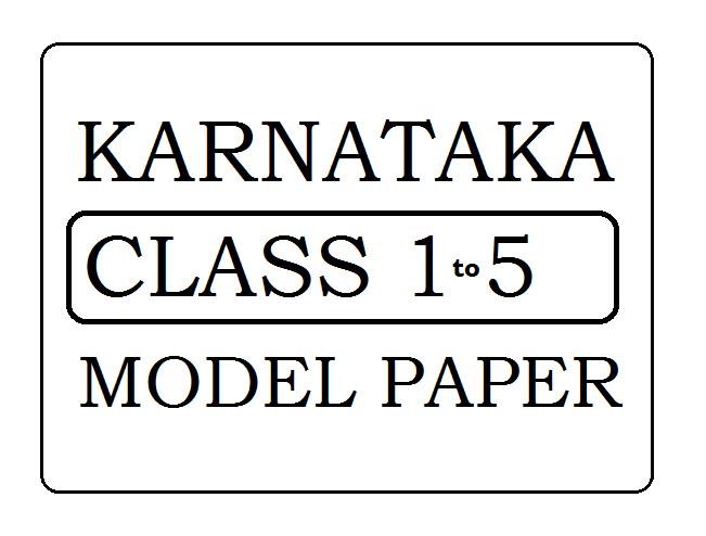 KAR Class 1 2 3 4 5 Model Paper 2020
