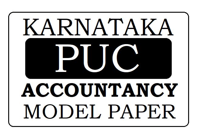 KAR PUC Accountancy Model Paper 2021