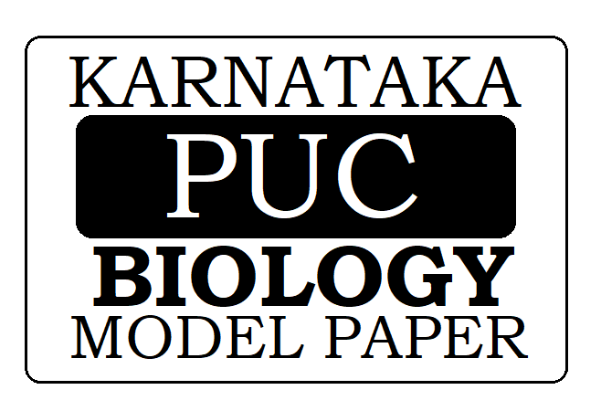 KAR PUC Biology Model Paper 2021