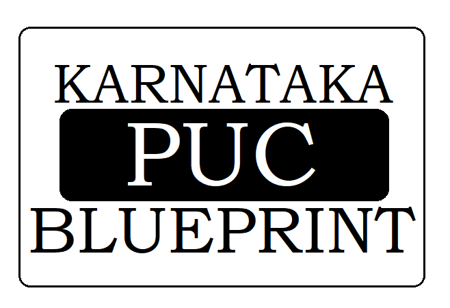 Karnataka 1st and 2nd PUC Blueprint 2020