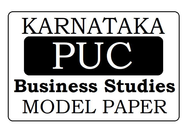 KAR PUC Business Studies Model Paper 2021