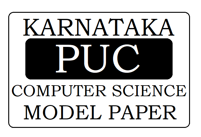 KAR PUC Computer Science Model Paper 2020