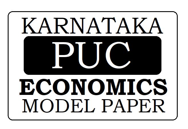 KAR PUC Economics Model Paper 2021