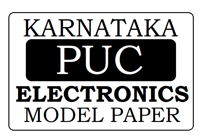 KAR PUC Electronics Model Paper 2021