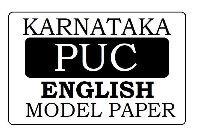 KAR 1st & 2nd PUC English Model Paper 2022