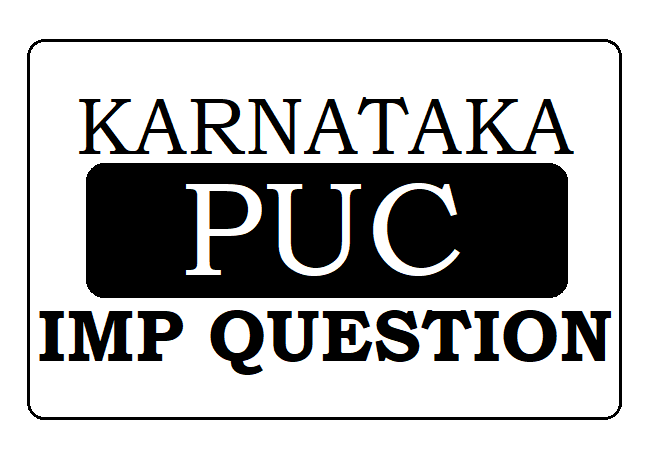 KAR PUC IMP Question 2020