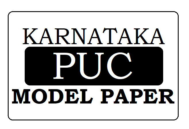 KAR 1st & 2nd PUC Model Paper 2020