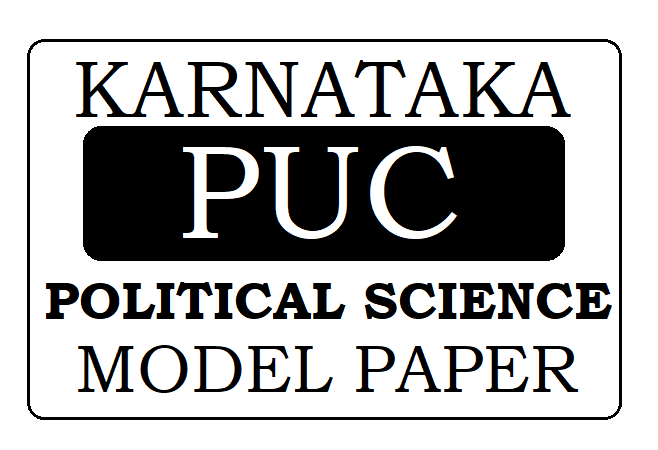 KAR 1st 2nd PUC Political Science Model Paper 2021