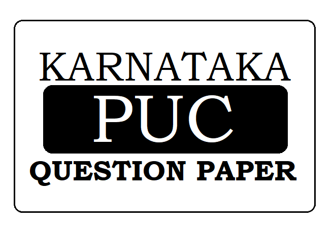 KAR 1st & 2nd PUC Question Paper 2021