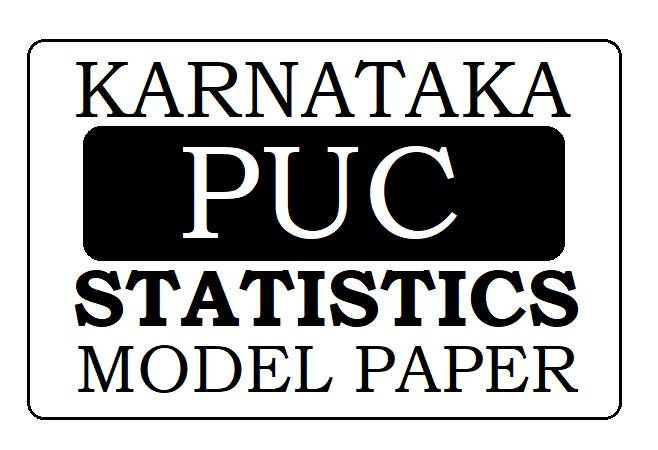 KAR PUC Statistics Model Paper 2021