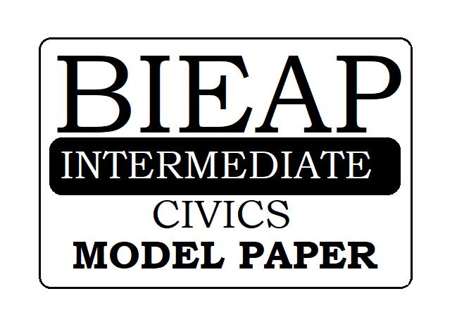 AP 1st & 2nd Inter Civics Model Paper 2021