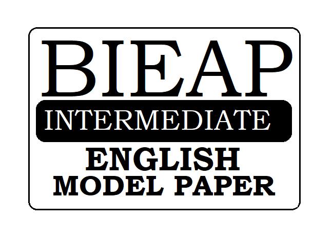 AP 1st & 2nd Inter English Model Paper 2021