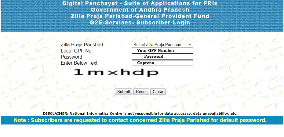 AP ZPGPF Annual Slips Download