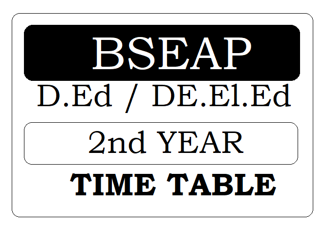 AP DED 2nd Year Timetable 2020
