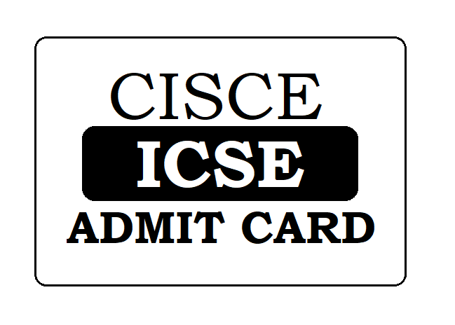 CISCE 10th Admit Card 2021