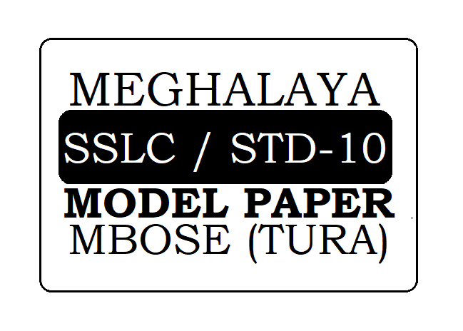 Meghalaya 10th Model Paper 2020