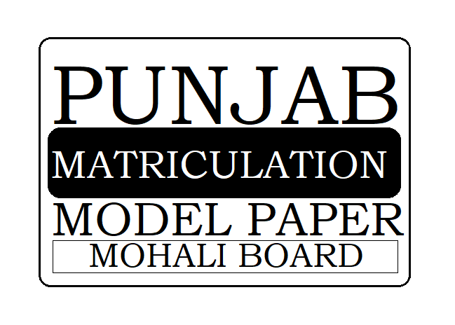 Punjab Board Matric/10th Model Paper 2020