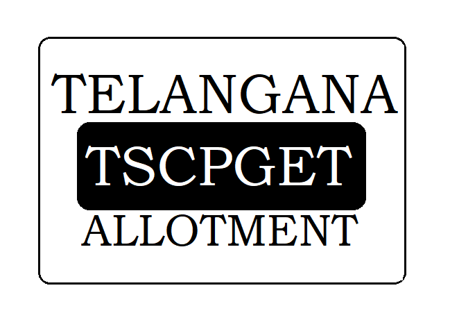 TSCPGET Allotment Result 2021