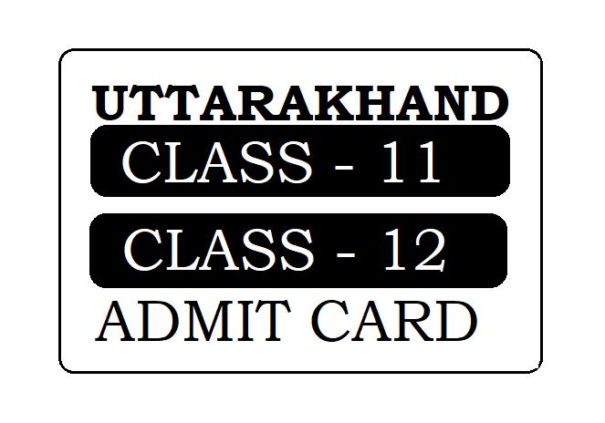 UK Board 12th Admit Card 2020