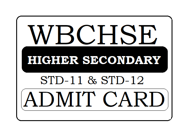 WBCHSE Admit Card 2021