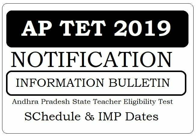 AP TET Notification 2019