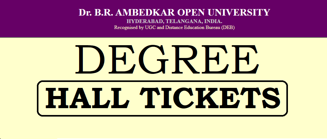 BRAOU Degree Hall Tickets 2019
