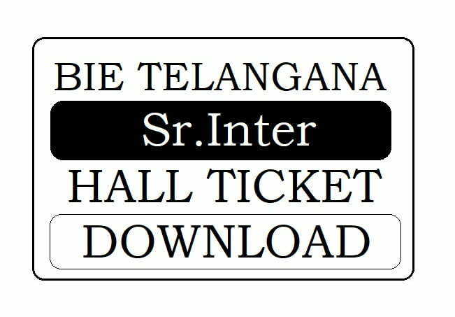 TS Sr Inter Hall Ticket 2020