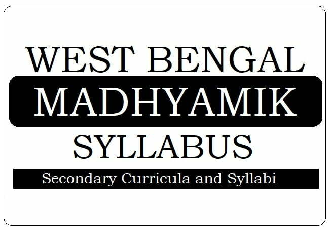 WB 6th, 7th, 8th, 8th Syllabus 2021